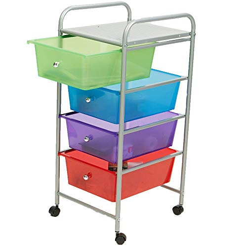 mind reader rolling storage cart and organizer with 4 plastic drawers available in the uae. Black Bedroom Furniture Sets. Home Design Ideas