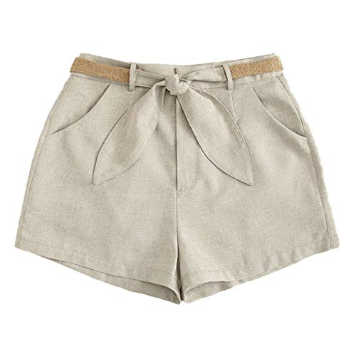 HongMong Sexy Shorts Solid Women High Bandage Casual Beach Waist Short Pants Shorts Gray