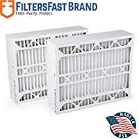 FiltersFast Compatible Replacement for Aprilaire SpaceGard 2400 Air Filter -MERV 13 2-Pack 16 x 27 x 6 (Actual Size: 15 3/8 x 26 15/16 x 6)
