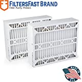 "FiltersFast Compatible Replacement for Aprilaire SpaceGard 2400 Air Filter -MERV 13 2-Pack 16"" x 27"" x 6"" (Actual Size: 15 3/8"" x 26 15/16"" x 6"")"