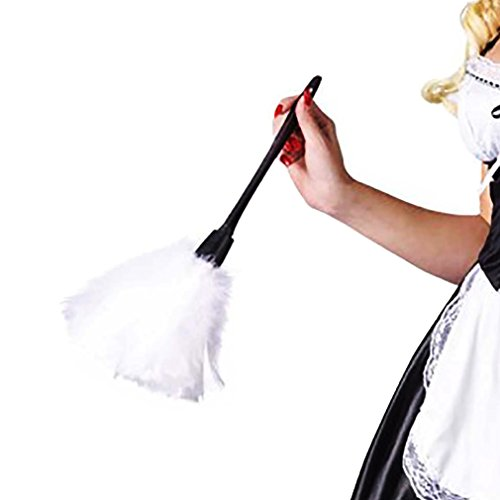 (Wraith of East Womens Feather Duster White Maid Sexy Accessories Housekeeper Cleaning Tools Length)