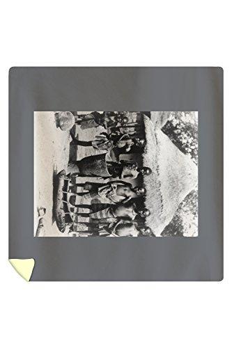 African Children in East Africa Photograph (88x88 Queen Microfiber Duvet Cover) by Lantern Press