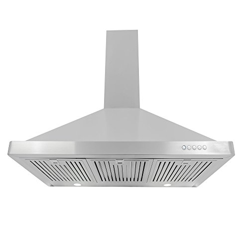 Cosmo 63190FT900 36 in. Wall Mount Range Hood with Push Button Controls, LED Lighting and Permanent (36in Range Hood)