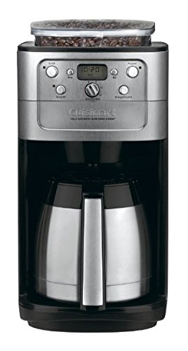 Cuisinart DGB-900BCFR Burr Grind and Brew Thermal 12 Cup Automatic Coffeemaker, Brushed Chrome (Certified - Coffee Brushed Chrome Maker