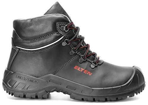 ELTEN RENZO Mid ESD S3 Herren Sicherheitsschuhe, Arbeitsschuhe, Sicherheitsschnürstiefel, Zertifiziert nach EN ISO 20345 : S3, Stahlkappe Schwarz