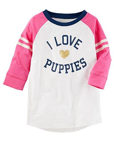 Osh Kosh Girls' Kids Long Sleeve Knit Tunic, Ivory, 4 by OshKosh B'Gosh (Image #1)