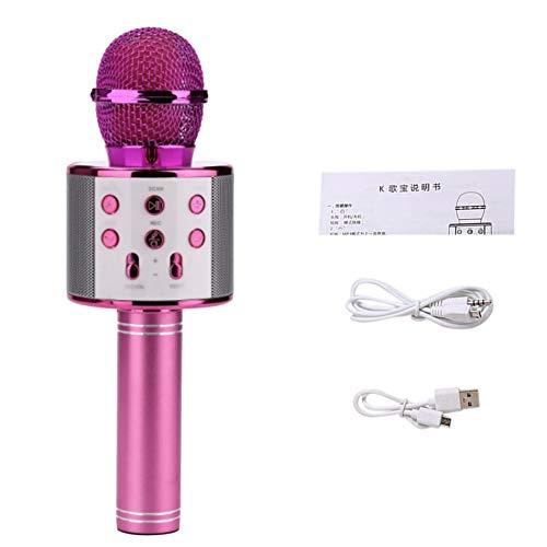 GailMontan Micró fono inalá mbrico Profesional Bluetooth Alta sensibilidad Inicio KTV Mú sica Reproducció n Oneline Chat Karaoke Micró fono para iOS