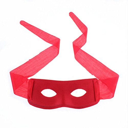 (Costumes Gothic - Red Black Adult Men Women Villain Joke Bandit Zorro Eye Mask Party Halloween Theme Masquerade - Mask Mask Micro Facial Latex Mask Eye Titanium Face Mask Zoro)