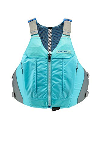 Astral Women's Linda Life Jacket PFD for Recreational Fishing and Touring Kayaking, Clearwater Blue, S/M