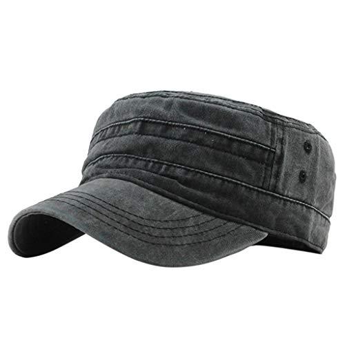 (Peigen Fashion Outdoor Unisex Casual Cotton Soldier Denim Hat Visor Solid Flat Cap Cadet Cap Military Army Hat Various Style (Green))