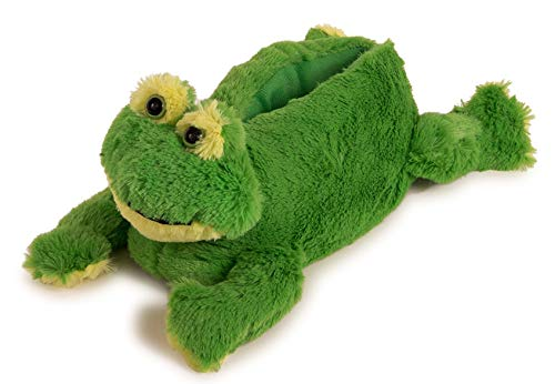 Lazy Paws Adult-Sized Frog Slippers (Size Medium Only) (Fuzzy Frog Slippers)