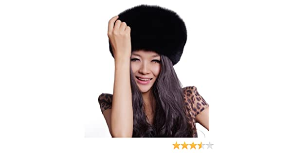 9cdcb312b56 URSFUR Women s Genuine Fox Fur Russian Ushanka Hats Multicolor (Black) at  Amazon Women s Clothing store  Cold Weather Hats
