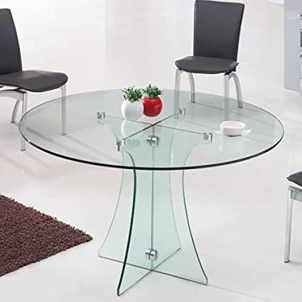 Tavolo Rotondo Cristallo Usato.Tavolo Rotondo In Vetro Diametro 120 Cm Trasparente