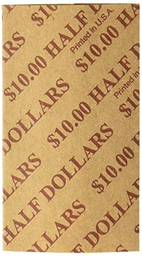 PM™ Company Coin Wraps, Half Dollars, Buff, Pack Of 1000