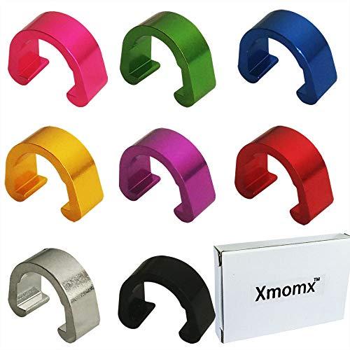Xmomx C-Clips Clamps Aluminum Alloy Metal U-Clips Buckle MTB BMX Mountain Bike Bicycles Brake Cable derailleur Shifter Cable Guides Gear Cable Housing Hose 8 Colors 2 PCs in Each Color