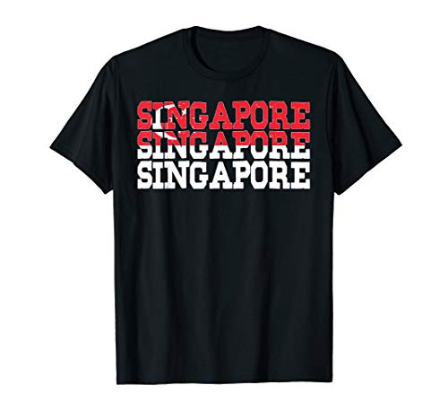 SINGAPORE | Singaporean Flag Sports Lovers T-Shirt