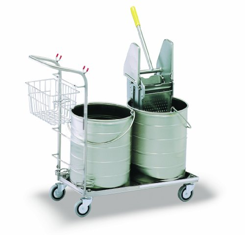 Royce Rolls Stainless Steel Round Double Bucket Mopping Unit - #5310 by Royce Rolls