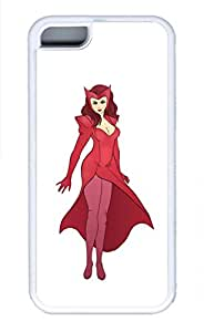 iPhone 5C Case, 5C Case - Thin Fit White Rubber Case Cover for iPhone 5C Scarlet Witch 4 Highly Protective Soft Rubber Case Bumper for iPhone 5C