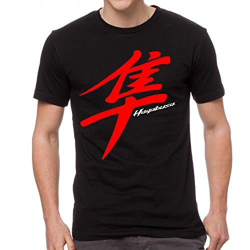 Suzuki Hayabusa MOTORCYCLE Mens Black Cotton T-Shirt (Large)