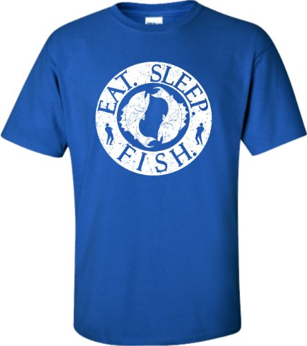 YL 14-16 Royal Youth Eat. Sleep. Fish. Fishing T-Shirt
