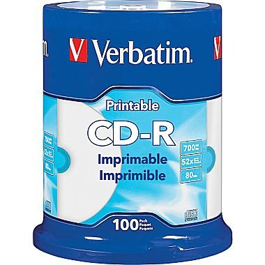 verbatim-700-mb-52x-80-minute-white-inkjet-printable-recordable-disc-cd-r-100-disc-spindle