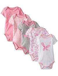 Calvin Klein Baby Girls' 5 Pack of Bodysuits