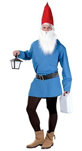 23e1942a4a2 Mens Blue Gnome Dwarf Halloween Book Day Film Fancy Dress Costume ...