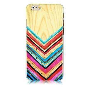 SHOUJIKE Wood Grain Pattern Hard Back Case for iPhone 6