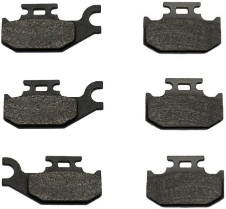 Volar Front /& Rear Brake Pads for 2001 Bombardier Traxter 500 XT 4x4