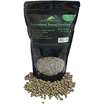 Professional Bonsai Fertilizer Slow Release - Rich In Organic & Natural Ingredients - Alfalfa Scented - Fertilizes Over 30 - 60 Days - Great For Indoor & Outdoor Bonsai, Plants, Trees (2 Pound)