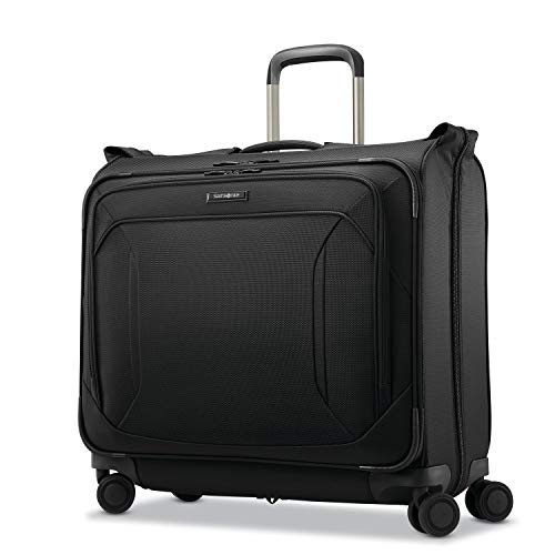(Samsonite Lineate Duet Wheeled Garment Bag, Obsidian Black)