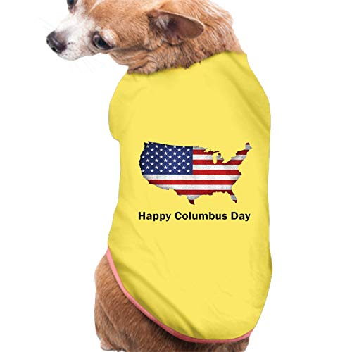 - Royalty Columbus Day Dog Pajamas, Puppy Bib Clothes Doggy Cat Home Service Jumpsuit