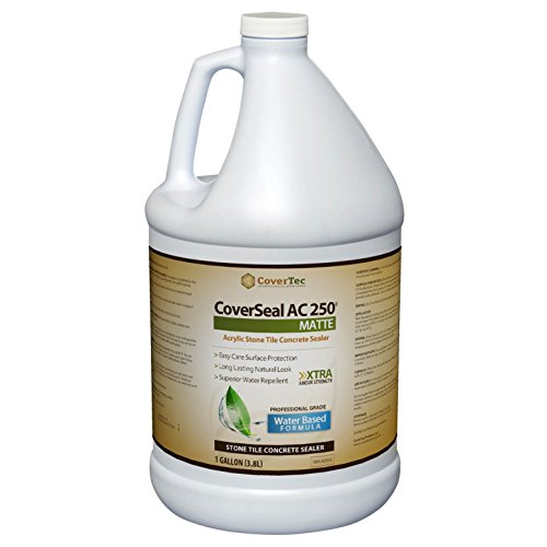 - CoverSeal AC250 Matte Stone, Tile and Concrete Sealer, Water Based (1 Gal - Prof Grade)