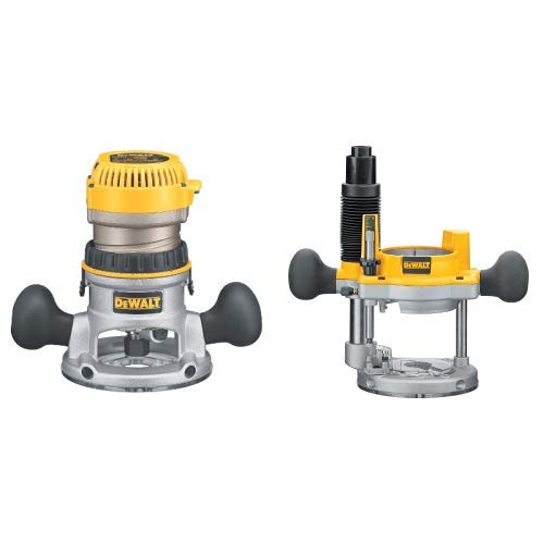 DEWALT DW618 2-1 4 HP Electronic Variable-Speed Fixed-Base Router with DW6182 Plunge Base