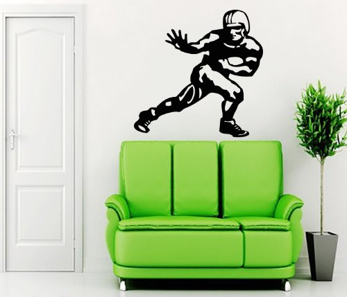 Sportsmans Trophy - Heisman Trophy Sportsman Wall Vinyl Decals Sticker Home Interior Decor for Any Room Housewares Mural Design Graphic Bedroom Wall Decal (5537)