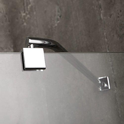 DOUCHE 90X90 CM SEMI-CIRCULAIRE DE VERRE 6 MM SANS CADRE MODEL LONDON