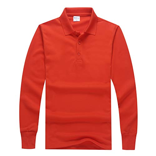 e86d2cd73 Wishere Men s T-shirt Slim Fit Solid Long-Sleeve Polyester Polo Shirt