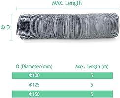 aluminio OOPPEN Conducto redondo de PVC para ventilador