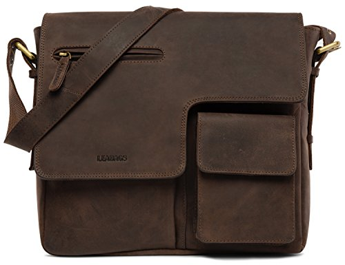 LEABAGS Birmingham genuine buffalo messenger product image