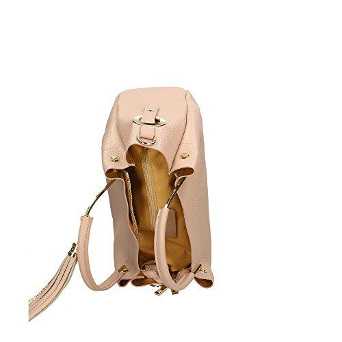 Made Italy en cuir Cm Sac 33x30x13 Aren Rose à in femme main véritable xwzZqATq0p