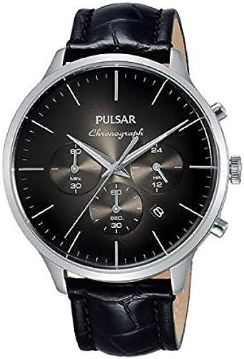 Pulsar Reloj Analog-Digital para Mens de Automatic con Correa en Cloth S0323001