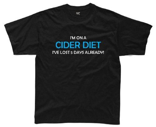 I'M ON A CIDER DIET... Herren Witziges T-Shirt