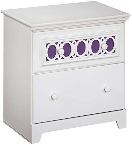 Ashley Furniture Signature Design - Zayley Nightstand - Interchangeable Drawer Inlays - White