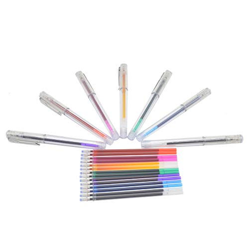 ibotti 7 Colors Water Erasable Marking Pens, Washable Fabric Marker,7 Pack with 14 Refills
