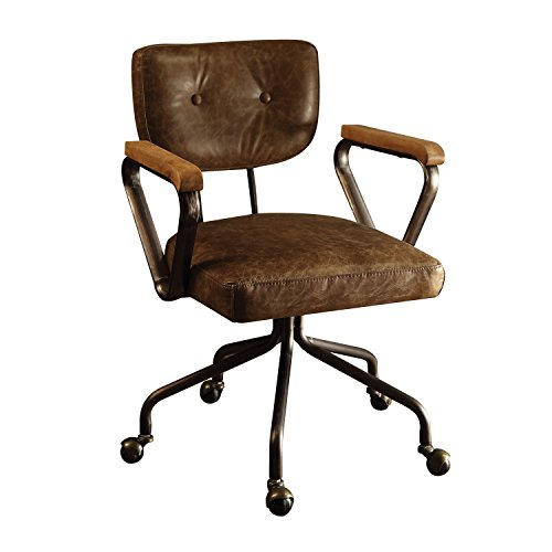 ACME Furniture Acme 92410 Hallie Top Grain Leather Office Chair in Vintage Whiskey