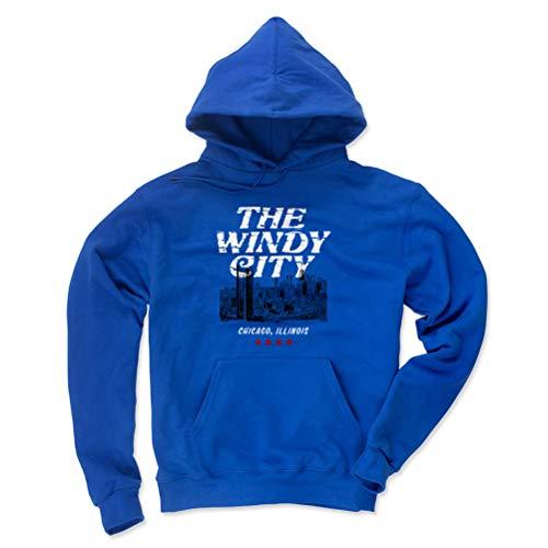500 LEVEL Chicago Hoodie Sweatshirt - X-Large Royal Blue - Chicago Illinois Windy City -