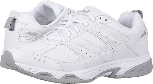 Avia Men's Avi-Union II Food Service Shoe, White/Chrome Silver, 10.5 Wide US