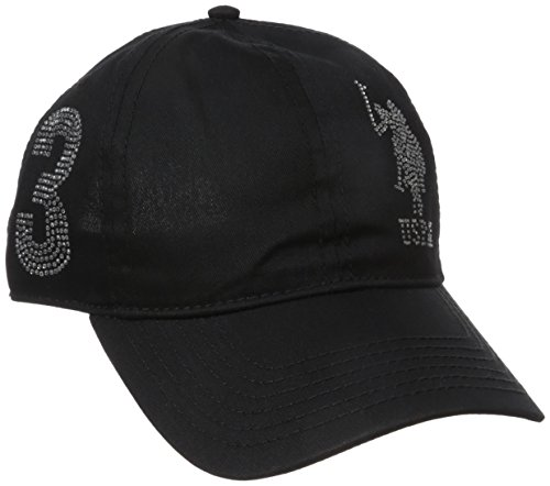 U.S. Polo Assn. Women's Rhinestone Logo Baseball Hat, Black, One Size (Rhinestone Baseball Hat Black)