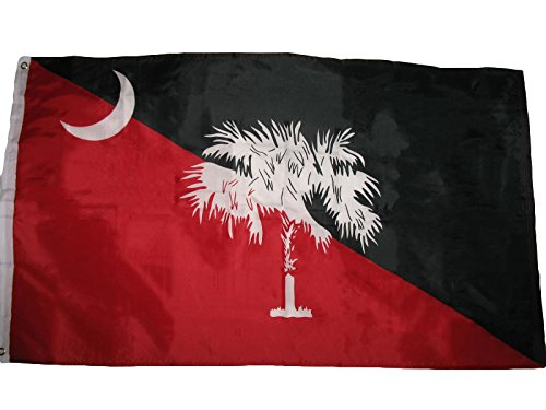 ALBATROS 3 ft x 5 ft State of South Carolina Garnet Black Flag Banner Grommets Gamecocks for Home and Parades, Official Party, All Weather Indoors Outdoors