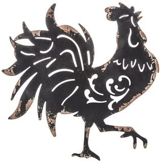 Black Rooster Metal Wall Decor Kitchen / Home Decor